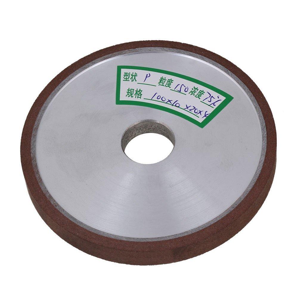 Flat Disc Straight Silver Diamond Aluminum Resin Grinder Grinding Wheel 150# Grit (100x10x20mm)