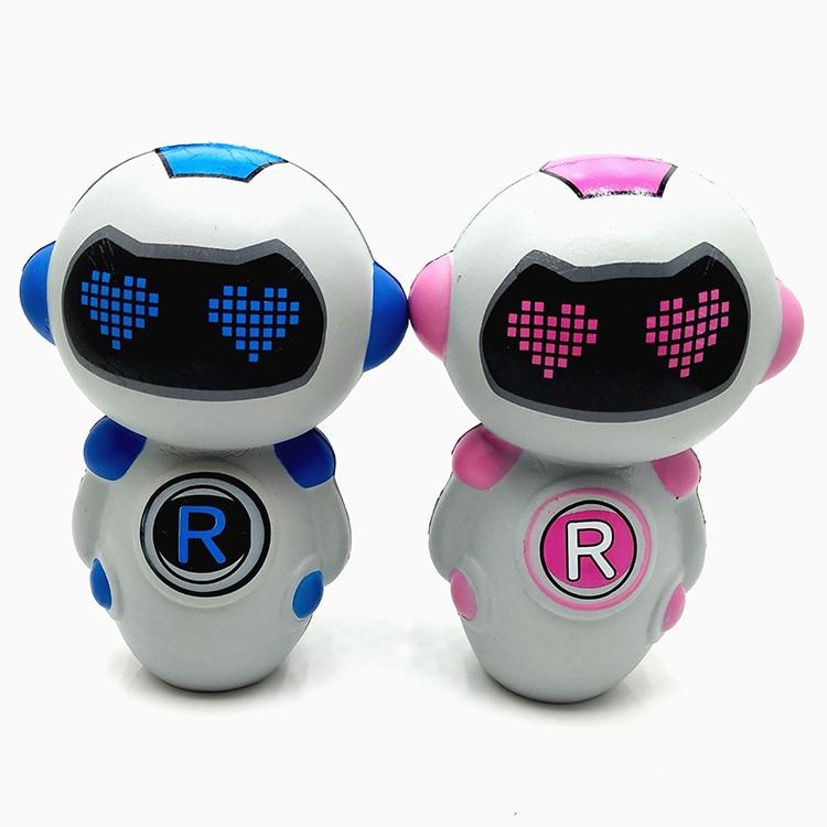 New PU Foam Squishy Springback Robot Toy Soft Belt Fragrance Robot Squishy Slow Rebound Toy Gift For Children Boy And Girls