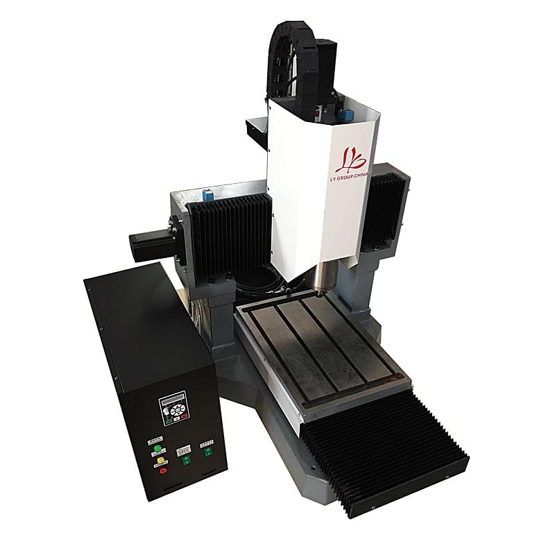 DIY mini enrutador cnc LY 3040 máquina de grabado cnc de hierro fundido completo para perforación de corte de metal de 3 ejes