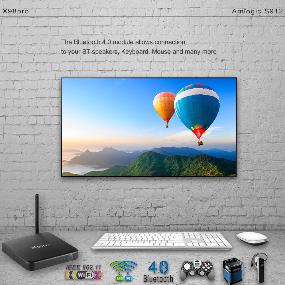 X98 PRO TV Box IPTV French Arabic 2GB 16GB Amlogic S912 3 6 12 Months SUBTV Subscription Albania Turkey Arabic French IPTV Box (3)