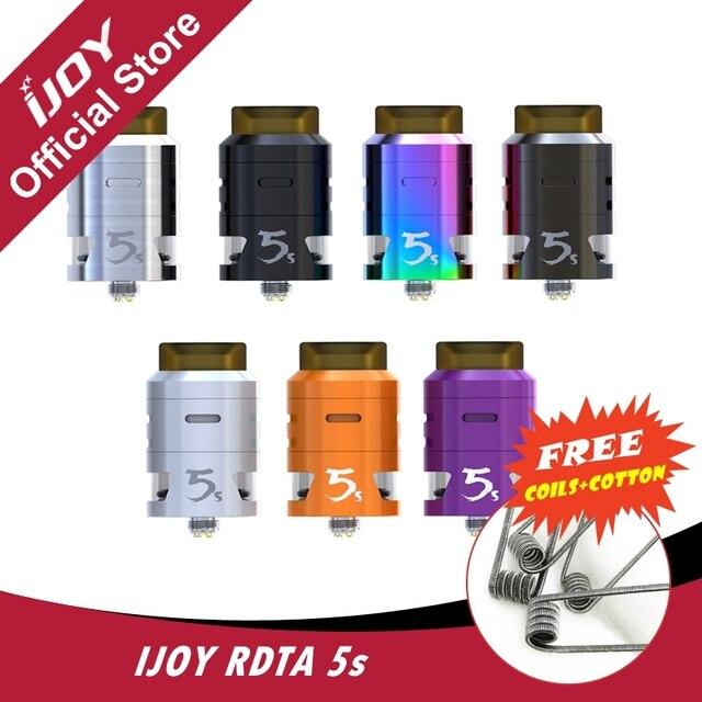 Оригинал IJOY rdta 5S бак 2.6 мл Аромат пара распылитель электронная сигарета для Joyetech кубовидной или капитан PD270 mod инновационных aiflow