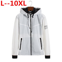 10XL 8XL 6XL 5XL 2018 Spring New Jacket Men Loose Fit Jackets white color Men Windbreaker Casual Coats Outerwear Brand Clothing
