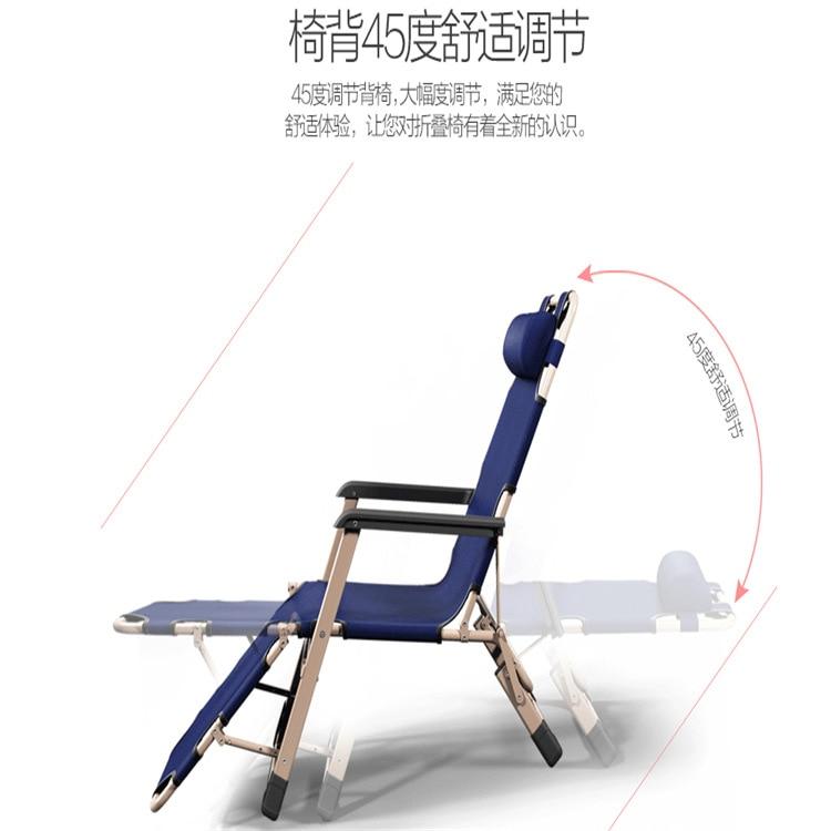 Купить с кэшбэком Outdoor or indoor adjustable nap recliner chair folding deck chair Beach chair with Steel Pipe frame Moisture absorption