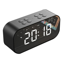 Top Deals AEC BT501 Portable Wireless Bluetooth Speaker Column Subwoofer Music Sound Box LED Time Snooze Alarm Clock for PC