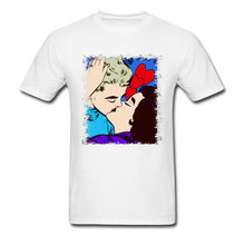 Custom Made Tshirts The Kiss Love Couple T Shirt Men I Want To Believe It 40 Birthday 3D Tees On Sale
