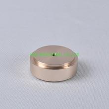 цена на 1pc 44X17mm Gold aluminum feet HIFI pad Chassis DIY Headphone Amplifier Speaker DAC CD Audio