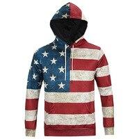 Rocksir North America Fashion Men Women 3d Sweatshirts Print USA Flag Stars Stripped Hoody Quality Hoodies