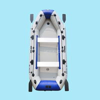 8 10 Person PVC Inflatable Boat Raft River Dinghy Fishing Rowing Boat With Aluminum Oars Air Pump D3360 728kg Load Weight 0.9MM