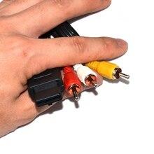 10pcs Lot RCA Audio Video สาย AV สำหรับ N64 สำหรับ GameCube สำหรับ GC สำหรับ SNES สำหรับ Super nintendo