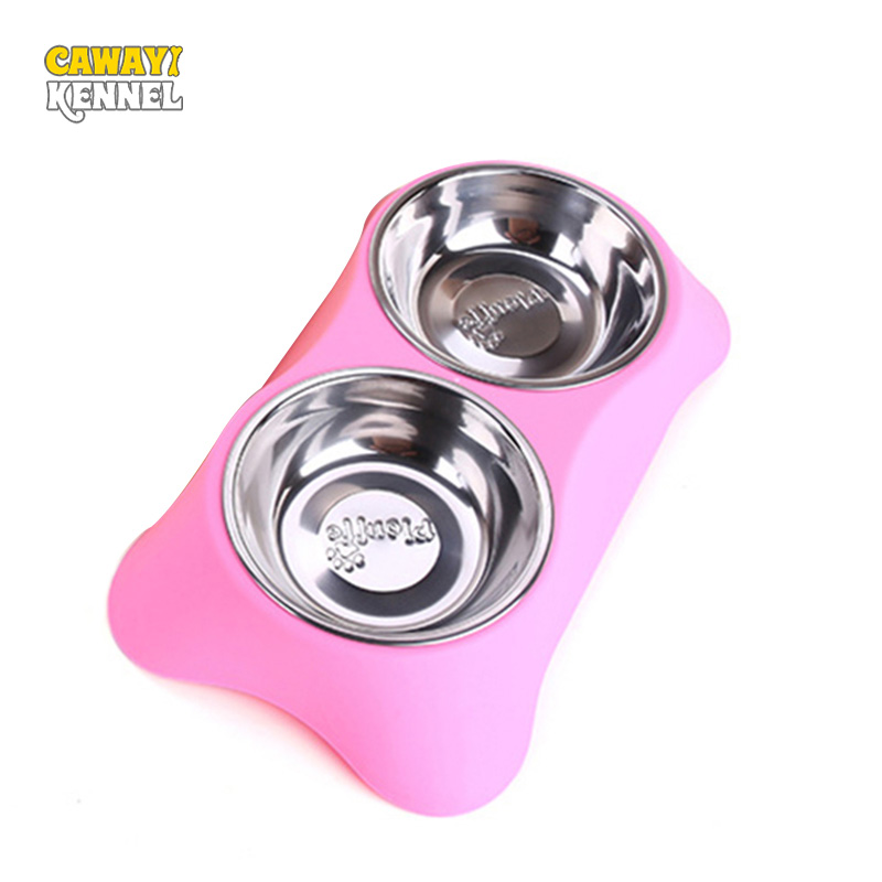 CAWAYI KENNEL Stainless Steel Double Pets
