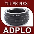 Tilt lente anillo adaptador juego para Pentax a Sony NEX para 5 T 3N NEX-6 5R F3 NEX-7 VG900 VG30 EA50 FS700 A7 A7s A7R A7II A5100 A6000