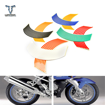17/18 inch Colorful motorcycle stickers and decals Reflective Rim moto Stripe Tape For BMW K1200R K1200R SPORT K1200S R1200R R12 image