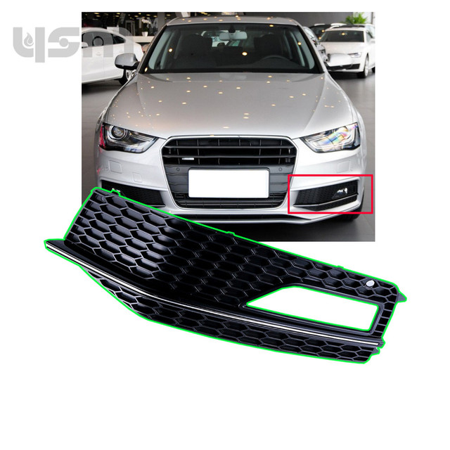 New Front Left Bumper Lower Fog Light Lamp Grill For AUDI A S Line - Audi a4 s line