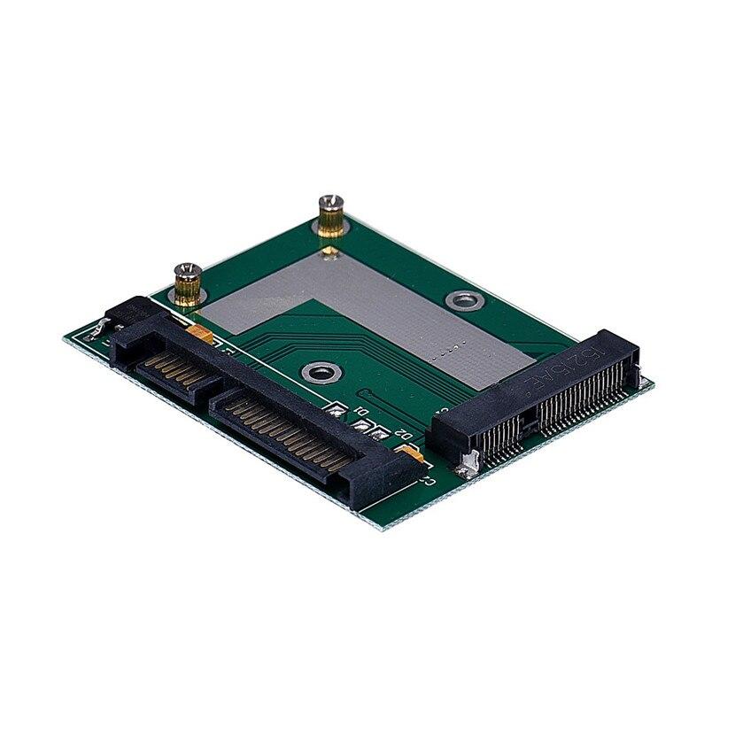 Hot Brand mSATA SSD To 2.5Inch SATA 6.0 Gps Adapter Converter Card 1.81 шасси orient uhd 2msc12 для ssd msata для установки в sata отсек оптического привода ноутбука 12 7 мм 30345