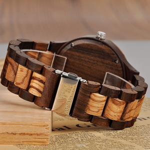Image 5 - לוגו מותאם אישית הדפסת תמונה משלך גברים שעון ייחודי במבוק עץ שעוני יד מתנה יצירתית לאוהבים או משפחות