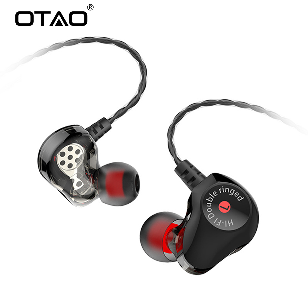 OTAO Double Unit Drive In Ear Earphone Bass Subwoofer Headset For Universal Phones Sport DJ Monito Running Headphone Earbud PC tello battery charging hub designed for use with tello flight batteries accommodate up to 3 tello batteries at the same time