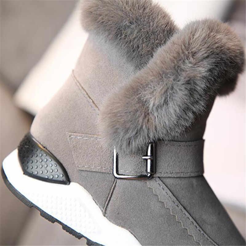 2018 Inverno botas Novas De Borracha não-deslizamento Menina botas plush fur botas princesa botas de pele de coelho além de veludo de algodão das crianças botas borla sapatos