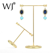 Gold Metal Countertop Long Earrings Jewellery Display Stand Holder Hanging Organizer Rack Howcase Hanger Jewelry Shooting Props