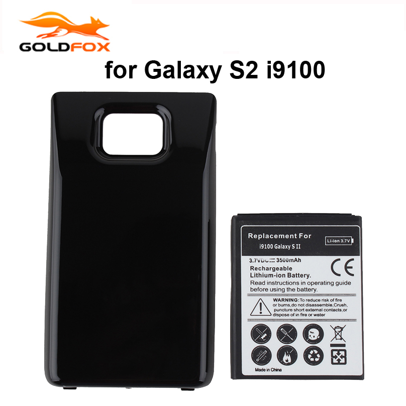 3500mAh Extended Replacement Battery For Samsung Galaxy S2 SII <font><b>i9100</b></font> GT-<font><b>i9100</b></font> i9103 i9105 Battery with Black Back Cover Case image