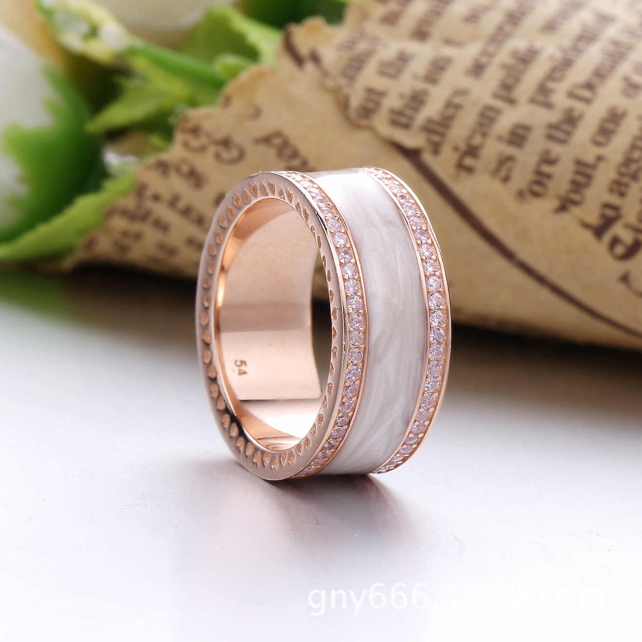6a51b27e1 ... Authentic 925 Sterling Silver Ring Rose Gold Pink Hearts Of Pandora  Band Rings With Crystal For