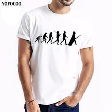 YOFOCOO Short Sleeve Round Neck Slim Casual T-shirt Print Tees t-shirt Men Tops Hip Hop Casual Funny Cartoon T-shirt Homme Print casual letter print round neck t shirt pants twinset for kids