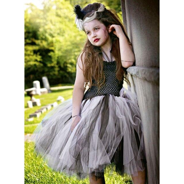 astilla negro novia de frankenstein halloween vestido de tutú