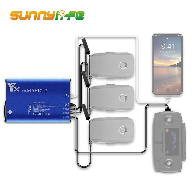 Зарядное устройство DJI Mavic 2 Pro/Zoom 5 в 1 для зарядного устройства Mavic 2 Drone пульт дистанционного управления и аккумулятор и зарядное устройство для смартфона