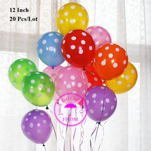 cheap latex balloons party decoration birthday wedding supplies orange yellow red pink round polka dot