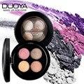 Marca 4 colores brillo paleta de sombra de ojos maquillaje nude natural de larga duración mujeres belleza cosméticos shimmer eyeshadow palette