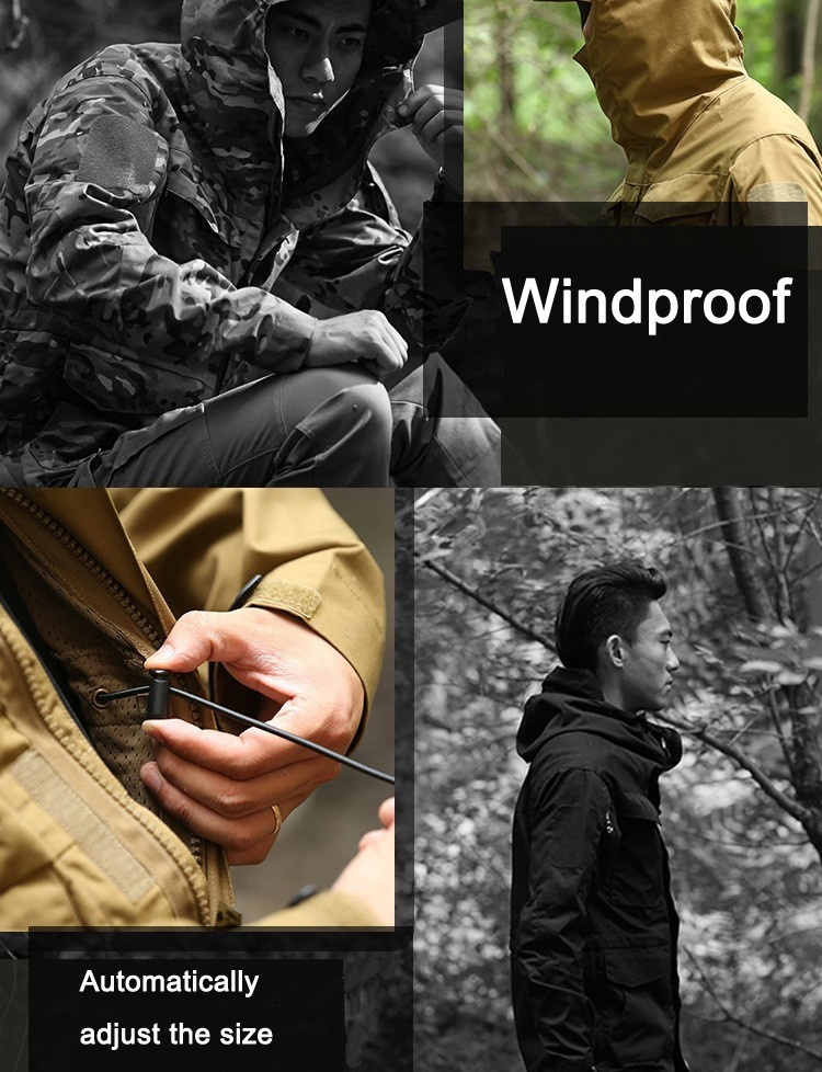 M65 UK US Army Clothes Windbreaker Military Field Jackets Mens Winter/Autumn Waterproof Flight Pilot Coat Hoodie Three colors 35