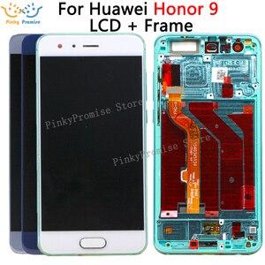 Image 1 - Huawei Onur 9 için STF L09 STF AL10 STF AL00 dokunmatik LCD ekran Ekran Çerçeve Sayısallaştırıcı Meclisi ile Onur 9 lcd ekran