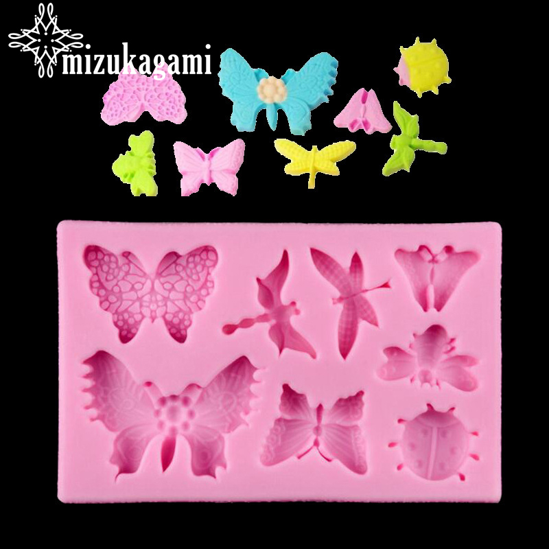 UV Resin Jewelry Liquid Silicone Mold Insect Butterfly Dragonfly Mold Resin Molds For DIY Handmade Jewelry Finding Accessories