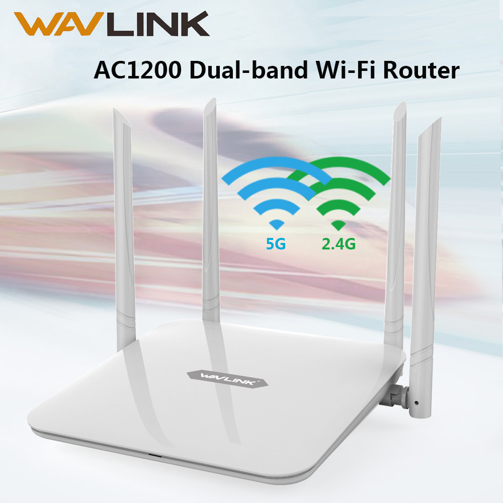 Wavlink Wifi Router AC1200 Wireless Access Point 5Ghz+ 2.4GHz Dual Band Smart Router Long Range Extender With 4x5dBi Antenna WPS