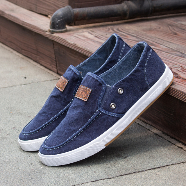 2016 new summer jeans men's leisure canvas shoes fashion ...