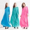 Abaya Turco 2016 Novo Frete Grátis Solto Longo-Vestido de mangas compridas Saia Muçulmano Árabe Robes Moda Vestuário Islâmico Para As Mulheres 204 #