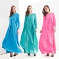 Abaya Turco 2016 Nuevo Envío Libre Suelta de manga larga Falda Del Vestido Túnicas Árabes Musulmanes Ropa Islámica Para Las Mujeres de Moda 204 #