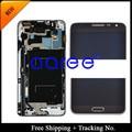 Novo Original Para Samsung Galaxy Note 3 NEO Lite N7505 N750 LCD Digitador Assembléia LCD com frame-Branco/cinza