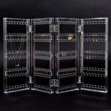 Новый 256 отверстий складной 4 панели прозрачный макияж ювелирных