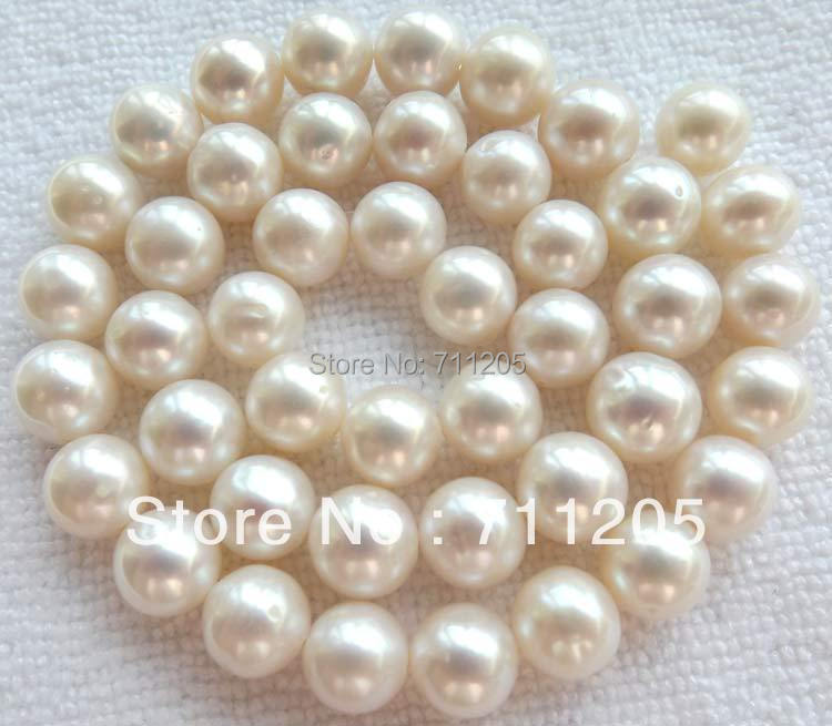 9mm Natural White Freshwater Pearl loose beads 15,we provide mixed wholesale for all items ,min. order is $10 !