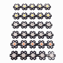 50pcs 1W 3W High Power  light emitter, Red, Green, Blue,  white, Warm White, Cool White,Full Spectrum. LED with 20mm Star PCB 50pcs 1w 3w high power warm white cool white natural white red green blue royal blue 660 uv ir850 940 led with 20mm star pcb