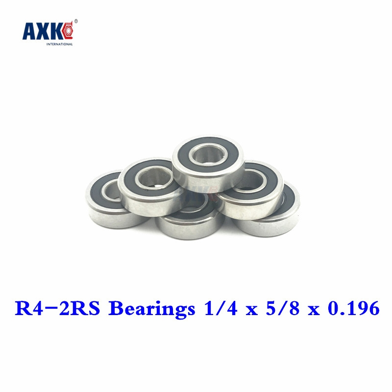 Gentle 2019 Hot Sale New Arrival Rolamentos Rodamientos Free Shipping 50 Pcs R4-2rs Bearings 1/4 X 5/8 0.196 Inch Ball R4 Rs R42rs 2rs Promoting Health And Curing Diseases