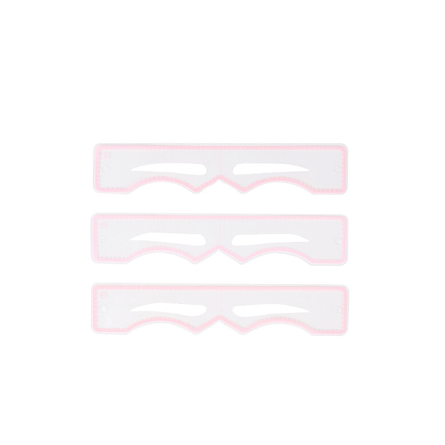 1 Set Eyebrow Shaping Stencils Silicone Eyebrow Grooming Stencil Kit Shaping Templates Diy Makeup Tools 3 Styles Pink