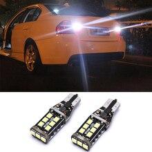 2x T15 W16W светодиодный CANBUS 2835 Чип 15 Светодиодный высокое Мощность обратный свет нет ошибок задний фонарь лампа для BMW E39 E60 E90
