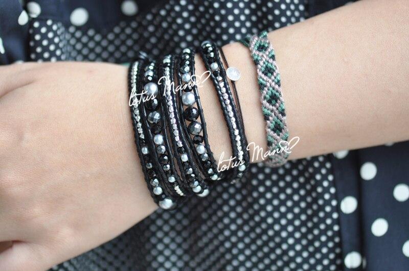 Здесь продается  Black and white hematite crystal pearl mixed black bracelet  Ювелирные изделия и часы