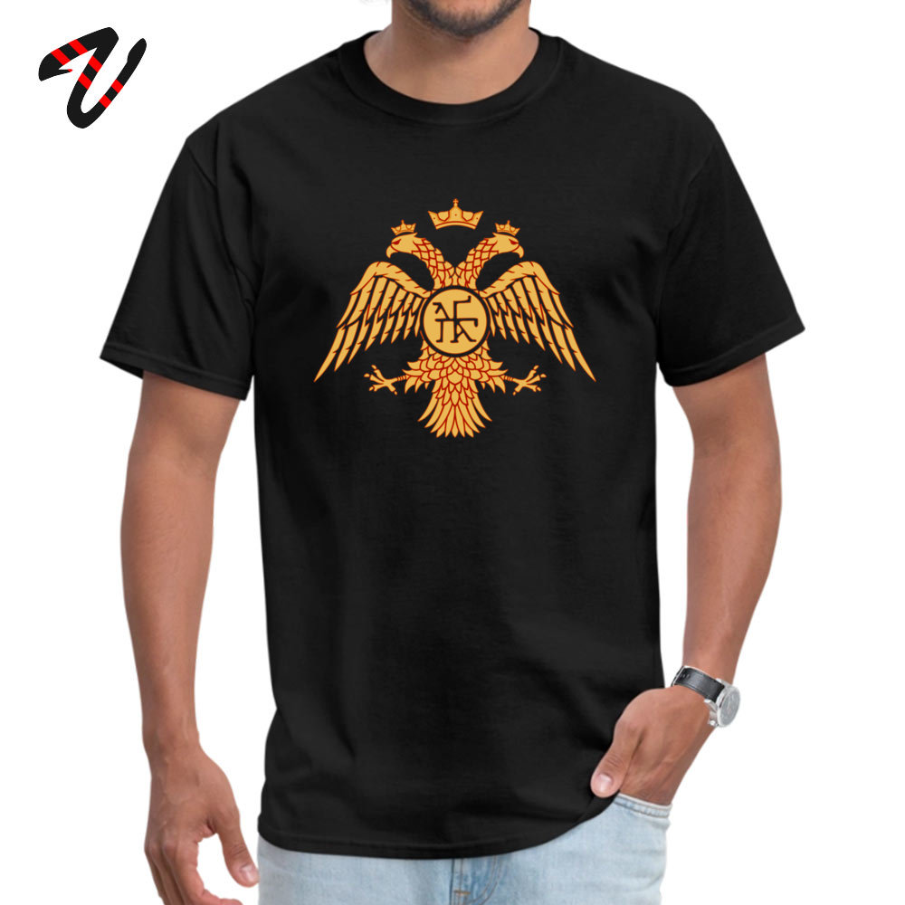 Byzantine Empire Tops T Shirt Summer/Autumn Crew Neck 100% Cotton Fabric Student Top T-shirts Design Top T-shirts 2018 Discount Byzantine Empire -15268 black