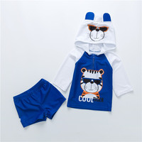 Baby Kids Boys Infant Swimwear Cool Tiger Children Quick Drying Swimsuit Spa Swimming Suit Sunscreen Beach Bathing Suit Surf Set