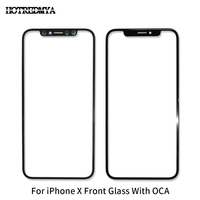 10Pcs/lot LCD Screen Front Glass With OCA For Apple iPhone X 5.8 Front Screen Outer Glass Len Touch Panel Replacement Repair