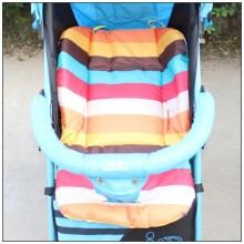 2016 New Baby Stroller Seat Cushion Cotton Stripe Baby Car Waterproof Pad Stroller Accessories Pram Rainbow Cotton Thick Mat
