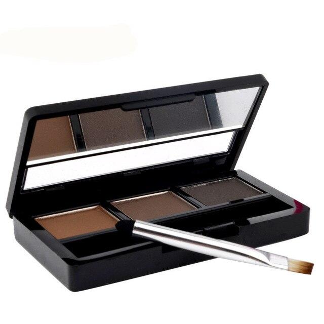 TUTU Kit de maquillage de marque ombre à sourcils sourcils imperméable à leau 3 couleurs Palette de poudre à sourcils