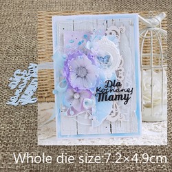 New Design Craft Metal Cutting Dies Polish word for my dear mother Scrapbooking Album Paper Card Craft Embossing Die Cuts